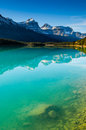 Waterfowl lake scenic on the icefields parkway banff national park Royalty Free Stock Images