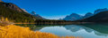 Waterfowl lake scenic on the icefields parkway banff national park Stock Photos