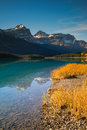 Waterfowl lake scenic on the icefields parkway banff national park Stock Image