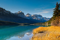 Waterfowl lake scenic on the icefields parkway banff national park Stock Images