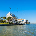 Waterfront homes community on the texas gulf coast near galveston Stock Photography