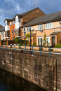Waterfront housing development located on at penarth marina in cardiff bay Royalty Free Stock Photo