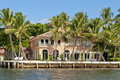 Waterfront luxury home Royalty Free Stock Photo