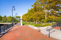 Waterfront Park on Clear Autumn Day Royalty Free Stock Photo