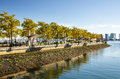Waterfront Park and Clear Sky Royalty Free Stock Photo