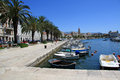 The Waterfront Promenade in Split Croatia Stock Image