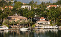Waterfront real estate Royalty Free Stock Photo