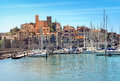 Waterfront of small town of Talamone. Grosseto region, Tuscany, Royalty Free Stock Photo