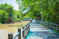 Waterfront walkway Royalty Free Stock Photo