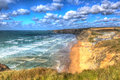 Watergate Bay Cornwall England UK north coast between Newquay and Padstow in colourful HDR Royalty Free Stock Photo