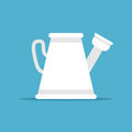 Watering can on blue Royalty Free Stock Photo