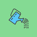 Watering can filled outline icon, line vector sign, linear colorful pictogram.