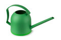 Watering can green on a white background Stock Images