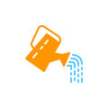 Watering can icon vector, filled flat sign