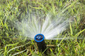 Watering system water sprinkler for garden irrigation Stock Photography