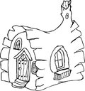 fairy tale house doodle Royalty Free Stock Photo