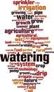 Watering word cloud Royalty Free Stock Photo