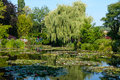 Waterlily gardens giverny claude monet in france Royalty Free Stock Photo