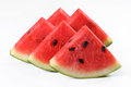 Watermelo slice of watermelon on white background Stock Images
