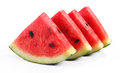 Watermelo slice of watermelon on white background Stock Photography