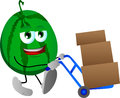 Watermelon As Delivery Man