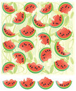 Watermelon background and elements for design, vec Royalty Free Stock Photography