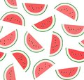 Watermelon, background, seamless, white, vector.