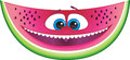 Watermelon cartoon cute fruit character with happy smile for flavored fruit candy or drink Royalty Free Stock Photography