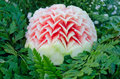 Watermelon carving Royalty Free Stock Photo