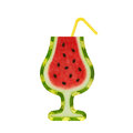 Watermelon cocktail (creative fresh summer tropical beverage or cocktail party) Royalty Free Stock Photo