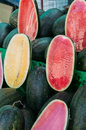 Watermelon cut for sale Royalty Free Stock Photo