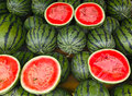 Watermelon the dissected watermelons are sold Royalty Free Stock Photos