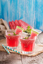 Watermelon drink in glasses Royalty Free Stock Photo