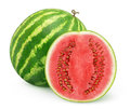 Watermelon fresh over white background Royalty Free Stock Photo