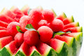 Watermelon fruit salad fresh and ripe balls Royalty Free Stock Photography