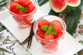 Watermelon in glasses Royalty Free Stock Photo