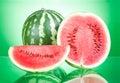 Watermelon, Half And Slice On ...