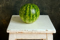 Watermelon healthy food nutrition on table Stock Image
