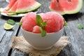 Watermelon ice cream Royalty Free Stock Photo