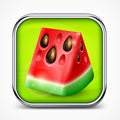 Watermelon icon fresh slice of on square vector illustration Stock Photo