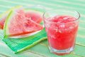 Watermelon juice in the glass Royalty Free Stock Image