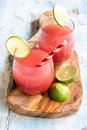 Watermelon juice in the glasses Royalty Free Stock Photo