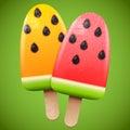 Watermelon juicy ice cream