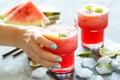 Watermelon lemonade Royalty Free Stock Photo