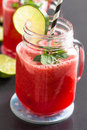 Watermelon and lime drink Royalty Free Stock Photo