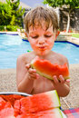 This watermelon is messy ! Royalty Free Stock Photos