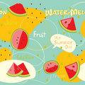 Watermelon pattern Royalty Free Stock Photo