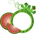 Watermelon Photo Frame Royalty Free Stock Photo