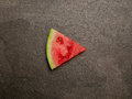 Watermelon play button slice top view