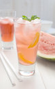 Watermelon punch Stock Photos